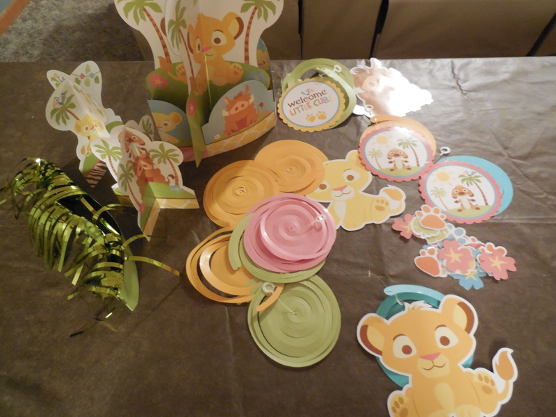 free disney 39 s the lion king baby shower decorations other holiday