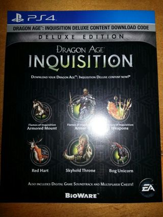 free dragon age inquisition deluxe edition digital. Black Bedroom Furniture Sets. Home Design Ideas