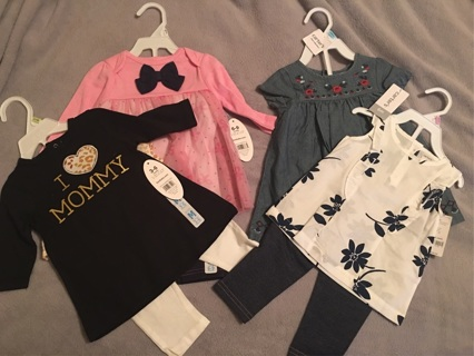8 New Girl's Outfits various sizes
