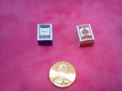 *~* Dollhouse Miniature Playing Cards *~*