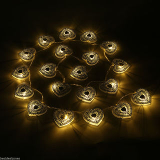 NEW 20 LED Battery Operated Heart Shaped - 1 string