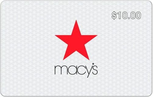 $10.00 Macy's Gift Card E-Delivery