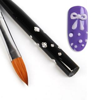 1PC No. 10 Detachable Nail Art Acrylic Brush Kolinsky Sable Drawing Brush Painting Pen Manicure Na