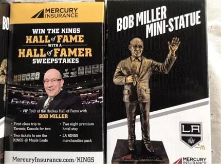 Bob Miller Mini Statue Collectable Figurine LA Kings Hockey Team.