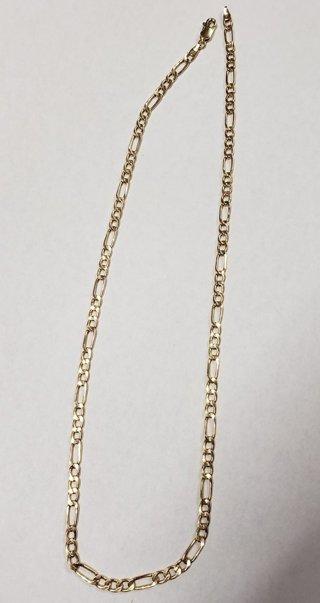 "10k Yellow Gold Hollow Figaro Chain 18 1/4"""