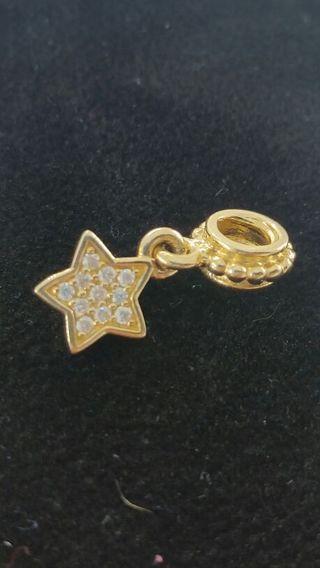 ☆☆☆Authentic Pandora Solid 14K Gold Brilliant Star Diamond Charm☆☆☆GIN BONUS ☆☆☆GIN BONUS ☆☆☆