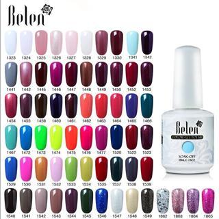 Belen 15ml Gelpolish Nail Gel Soak Off UV LED Gel Nail Varnishes Manicure Semi Permanent DIY Nail