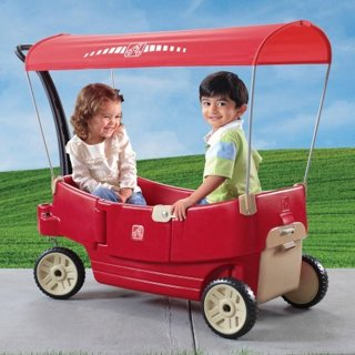 Step 2 All Around Canopy Wagon, Red