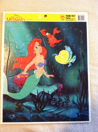 Free Frame Tray Puzzle Disney The Little Mermaid Golden 4049b