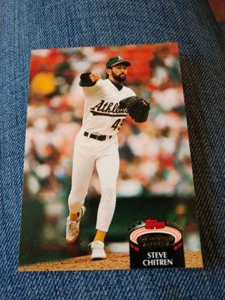 Baseball Card - Steve Chitren 1992
