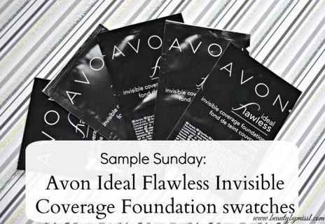 New Avon Liquid Foundation: 5 Samples * Ideal Nude*