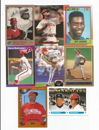 Free Curt Schilling Philadelphia Phillies Baseball Card Lot Mariano