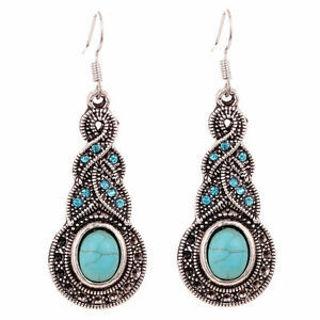 ❤️ Turquoise Crystal Dangle Earrings NEW