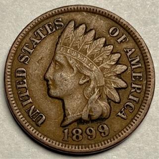 1899 INDIAN HEAD CENT (Full Liberty )