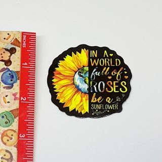 Sunflower and Quote Large sticker decal NEW
