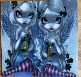 """ANGELS WITH BELLS! - 4 x 4"""" MAGNET"""