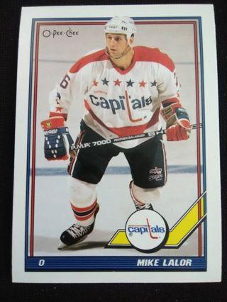 1991-92 O-Pee-Chee Mike Lalor Hockey Trading Card #483