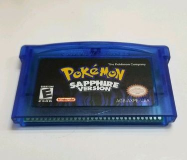 Nintendo Pokemon sapphire gameboy advance GBA FAST DELIVERY FROM USA