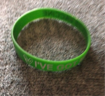 "Brand New: Green ""I've Got My COVID-19 Shot"" Bracelet"