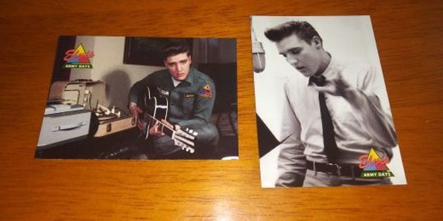 """1992 The River Group Elvis Presley """"Army Days"""" Cards"""