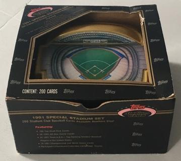 1991 Topps Stadium Club Special Skydome Stadium 199 Baseball Cards Set