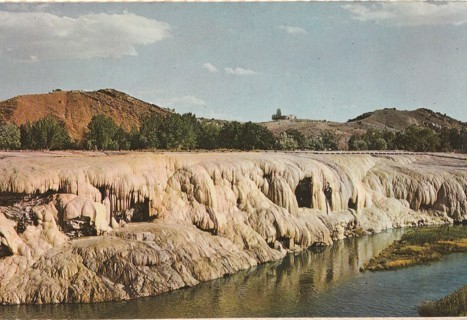 Vintage Unused Postcard: The Mineral Terraces, Hot Springs State Park, Thermopolis, WY