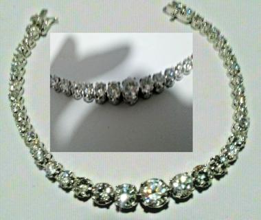 Cubic Zirconia Sterling Silver Tennis bracelet NEW