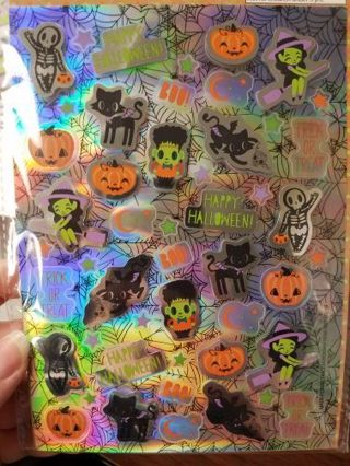 Layered Holographic Halloween Stickers