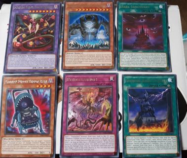 6 mint condition silver letter printed rares yugioh cards