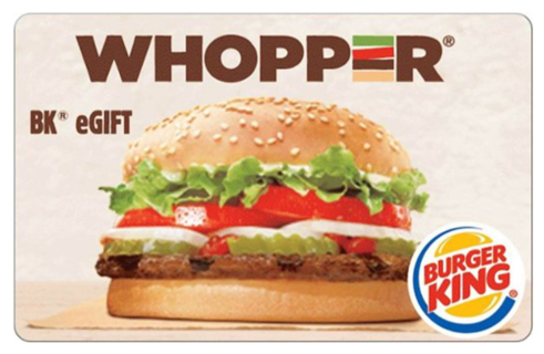 $5 Burger King E-Card! Digital Delivery ONLY!