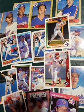 17 Rangers Baseball Assorted Cards