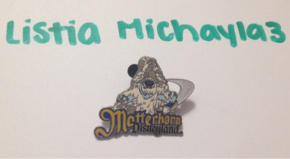 Matterhorn Disneyland trading pin