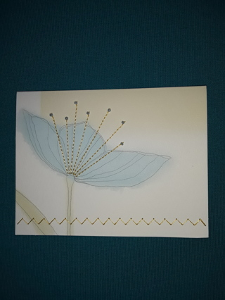 Notecard - Beaded Flower