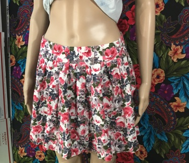 WOMEN'S Forever 21 Skirt Floral Zip Side Midi Forever 21