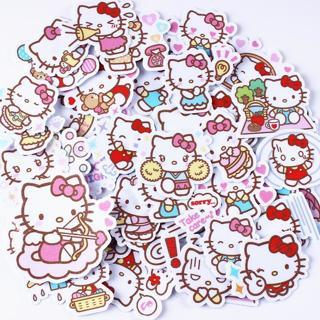 40pcs/pack creative kawaii self-made Hello Kitty scrapbooking stickers /decorative sticker /DIY cr