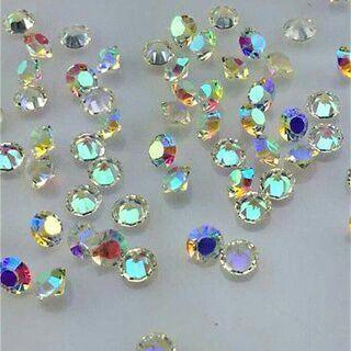 200PCs Lot AB Birthstone Crystal Floating Charm for Glass Living Memory Locket