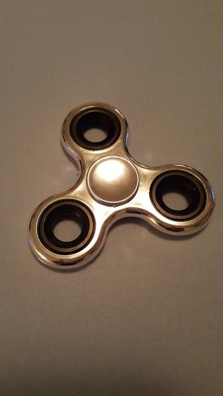Fidget Spinner - Silver/Black