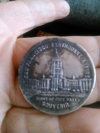 San Francisco Earthquake and Fire Souvenir Coin