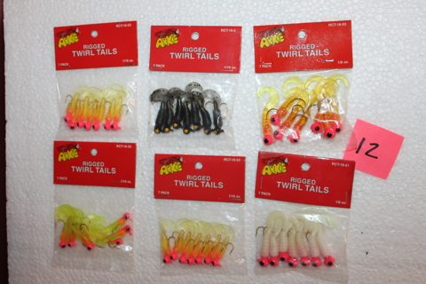 FISHING JIGS,VARIOUS SIZE AND COLORS,6 PACKS