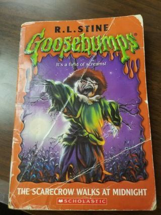 Goosebumps The Scarecrow Walks at Midnight Softcover Book