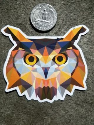 Owl Head Sticker
