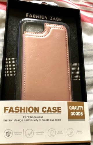 Brand New: Rose Gold iPhone Wallet Case w/Anti Shock & Anti Scratch Protection