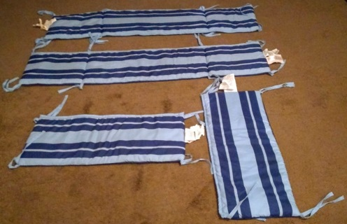 Set of Four - Reversible Crib Baby Bumpers (for Boys) - Bid Only!