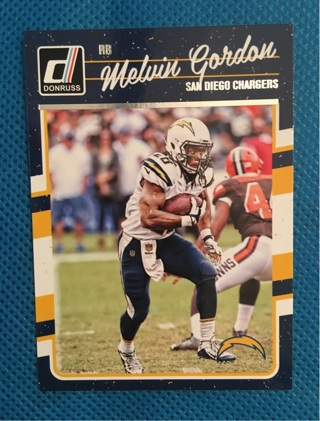 2016 DONRUSS CHARGERS' MELVIN GORDON CARD