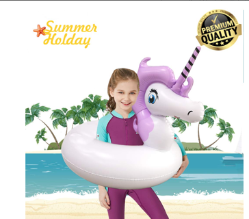 Easymore Pool Floats for Kids, Unicorns Pool Float Inflatable Float Ride on Water Raft