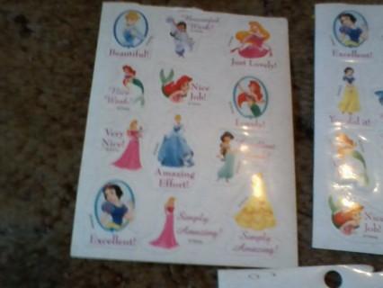 Princess reward stickers
