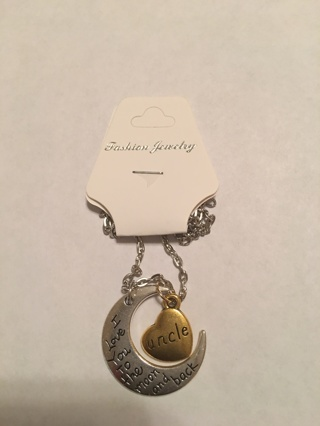 I love you to the moon and back Uncle necklace