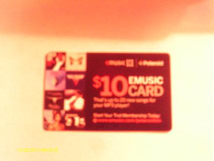 $10 EMUSIC CARD