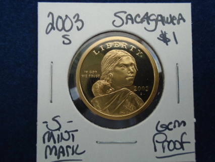 GEM PROOF 2003-S $1 SACAGAWEA GOLDEN DOLLAR GEM PROOF!