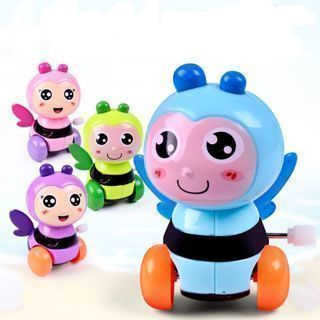 Cute Plastic Bee Insect Clockwork Toy Child Early Educational Gift
